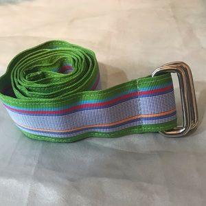 Land's End striped belt.  BB2